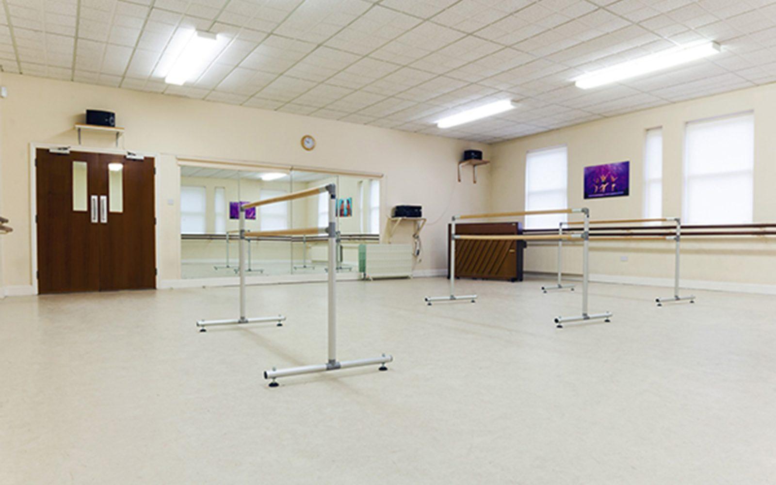 Studio with dance rail